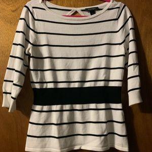 White House black market medium striped sweater